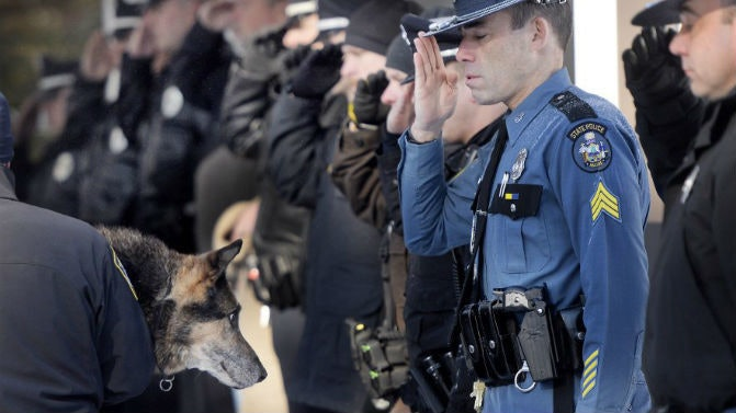 Related: Beloved Police Dog Honored With Final Salute. And He Earned It