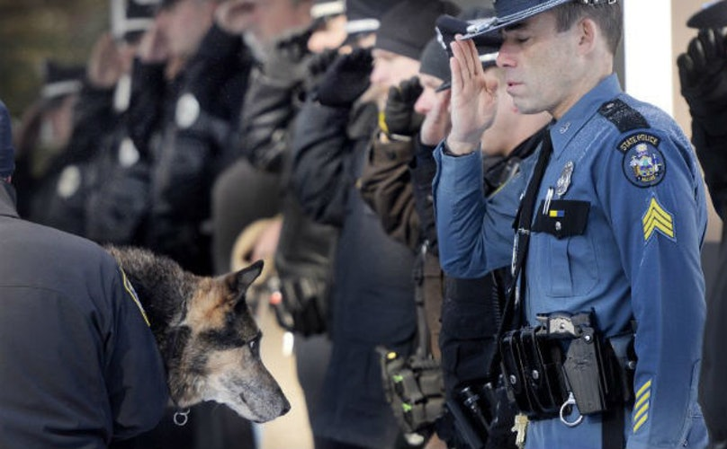 Beloved Police Dog Honored With Final Salute. And He Earned It